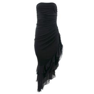 Emanuel Ungaro Black Strapless Dress