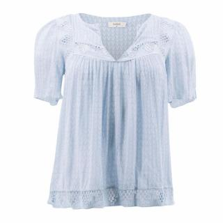 Ba&sh Light Blue Embroidered Top