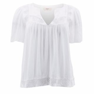 Ba&sh White Embroidered Top