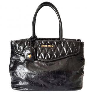 Miu Miu Vitello Shine Shopper Handbag