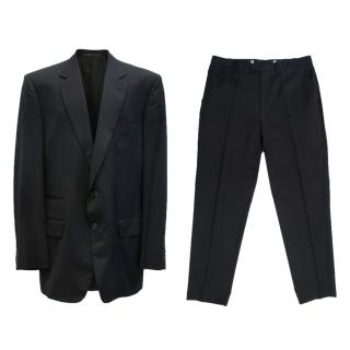 Gucci Black Wool Suit