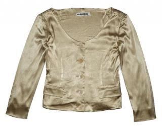 Jil Sander gold silk jacket