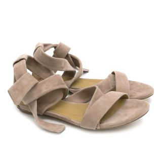 Ba&Sh Pink Suede Sandals
