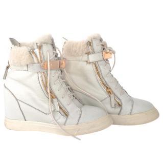Giuseppe Zanotti boots with sheepskin fur