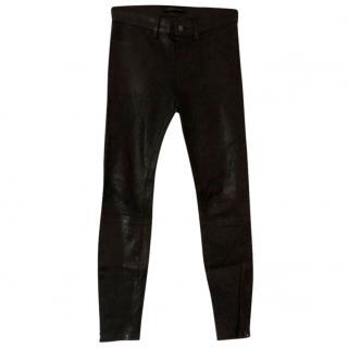 J Brand Black Leather Skinny pants Jeans