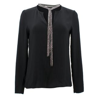 Maje Black Embellished Blouse