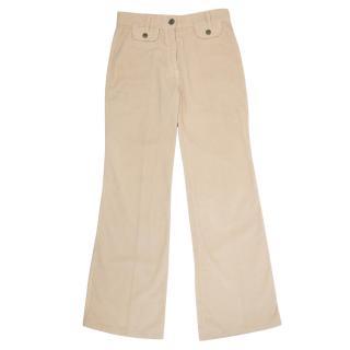 Chloe Cotton Peach Trousers