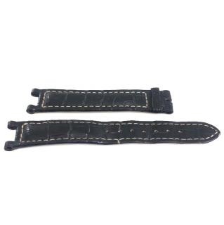 Cartier -Matte Black Exotic Skin Watch Strap