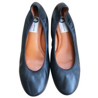 Lanvin black ballet shoes