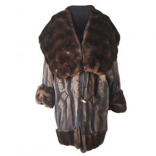 Christian Dior vintage coat with mink fur trim