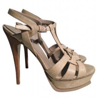 YSL Tribute grey sandals