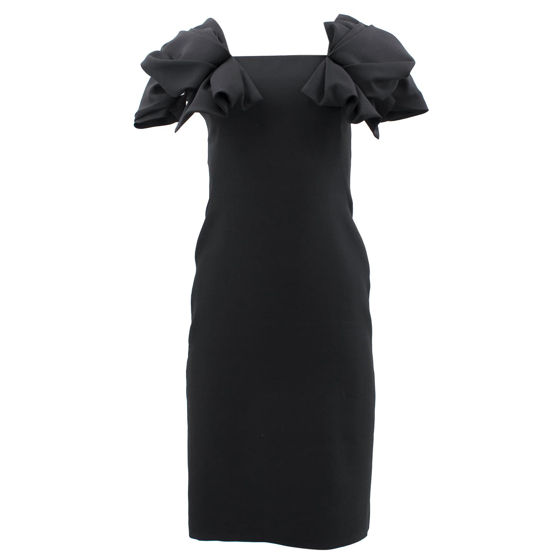 Alexander McQueen Black Ruffle Dress