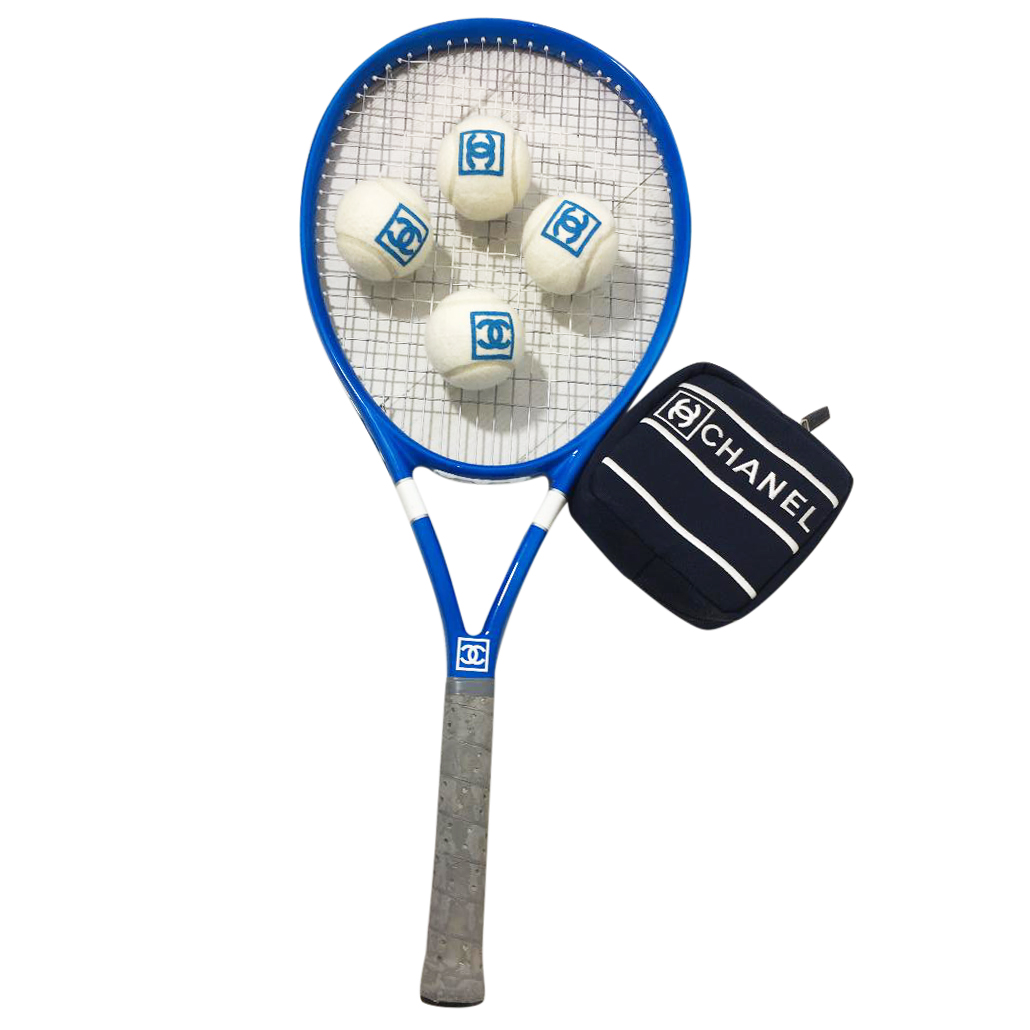 Chanel Tennis Racket With 4 Balls