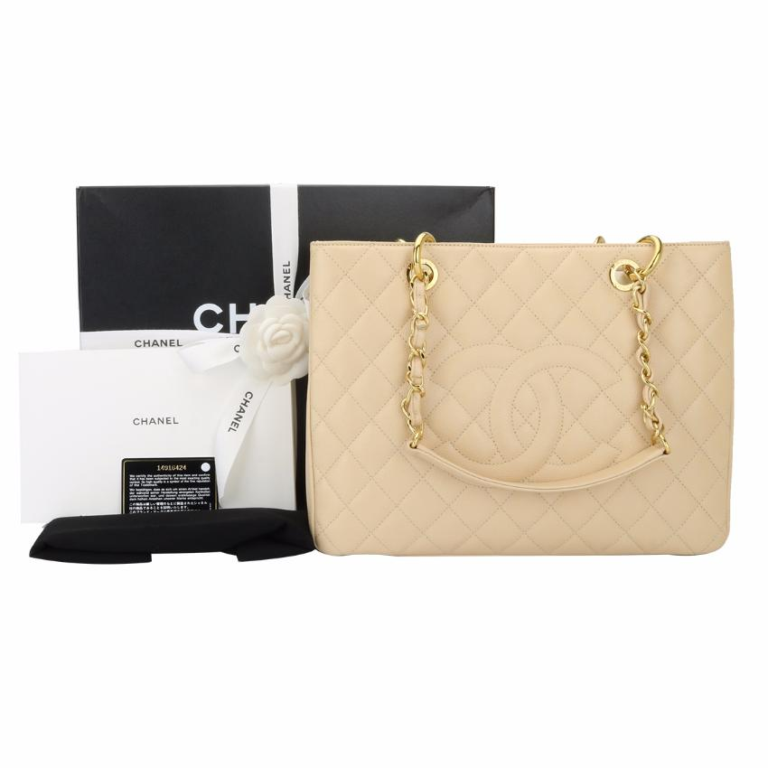 2dfb5faf9226 Chanel Grand Shopping Tote Gst Beige Clair Caviar Gold Hardware ...