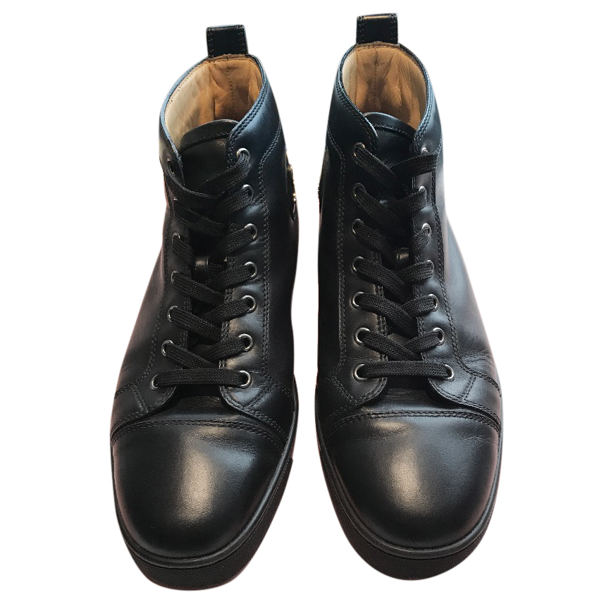 purchase cheap ee843 8652f CHRISTIAN LOUBOUTIN 'Louis Flat' leather trainers