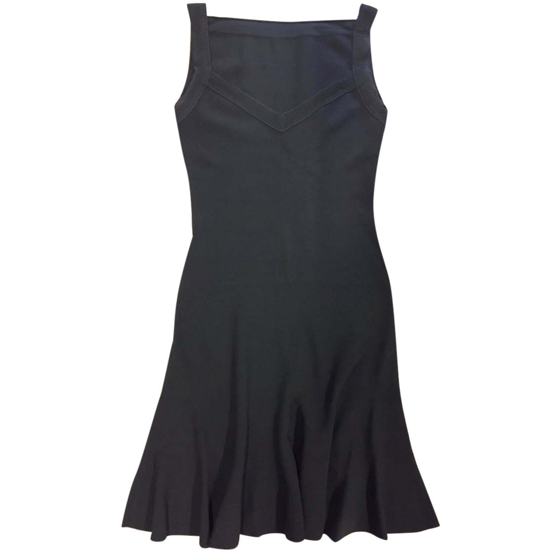 7cbe8af2 Azzedine Alaia Black Stretch Knit Dress S   HEWI London