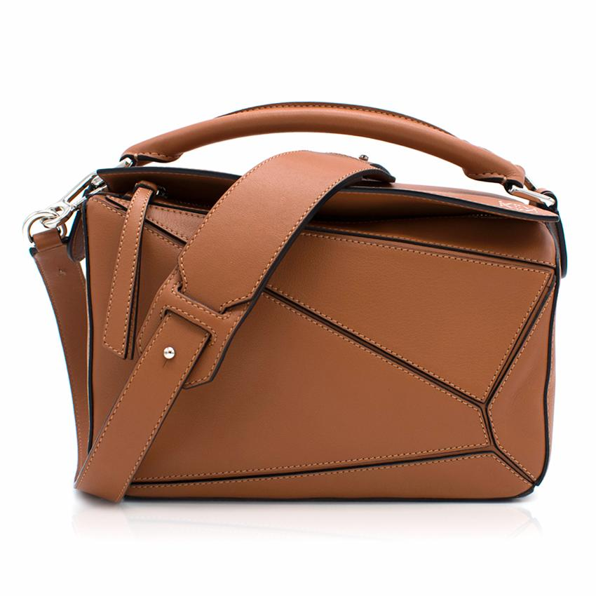 Loewe Puzzle Small Tan Bag