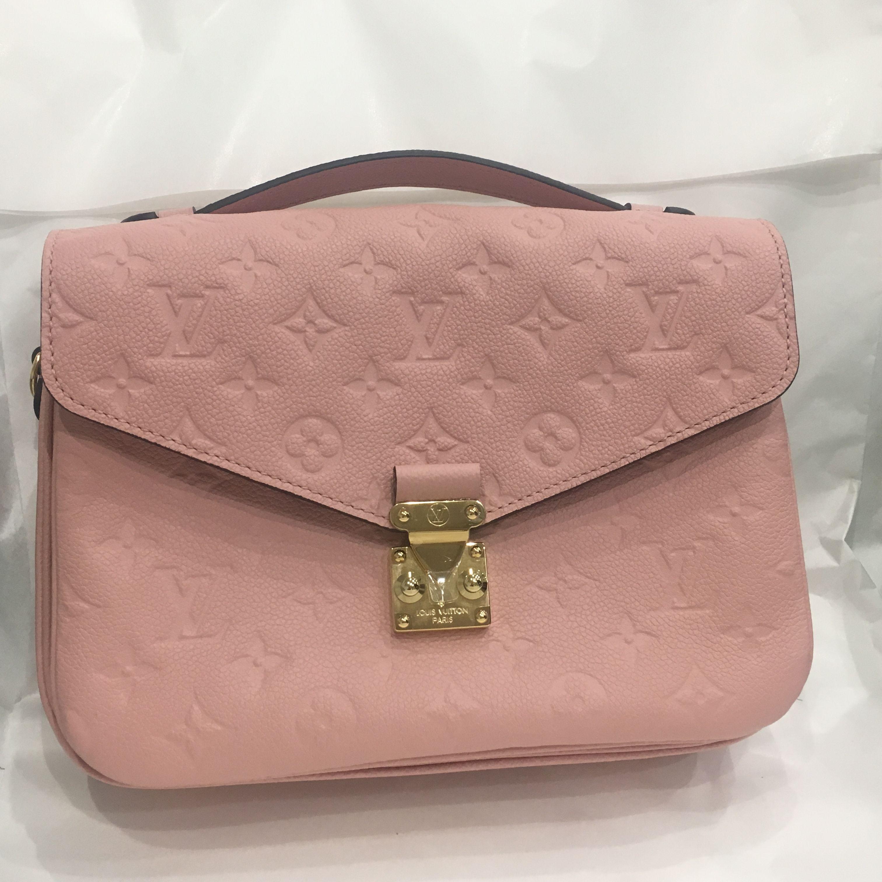 d7bd1cf29445 Louis Vuitton Baby Pink Lv Pochette Metis   HEWI London