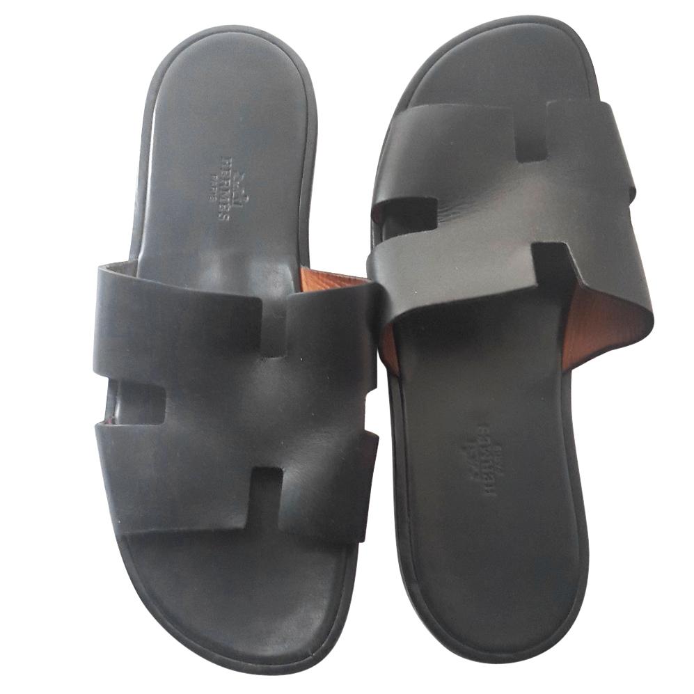 22c835df170c Hermes Mens Izmir Black Sandals