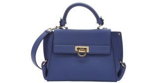 Salvatore Ferragamo Blue Sofia Handbag
