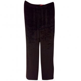 Tamara Mellon velvet trousers