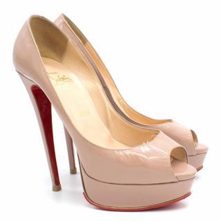 Christian Louboutin Lady Peep Patent Calf Heels