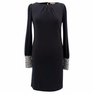 Melissa Odabash Black Dress With Jewelled Cuffs