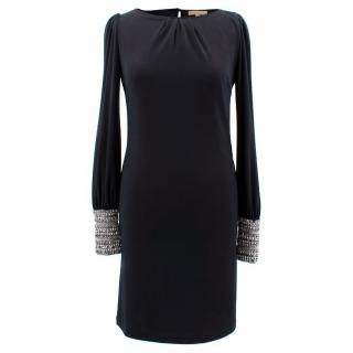 Melissa Odabash Black Dress With Jewelled Cuffs