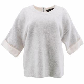 Rag & Bone Grey and Cream Wool Jumper