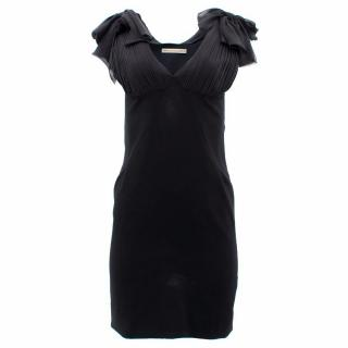 Balenciaga Paris Black V- Neck Dress