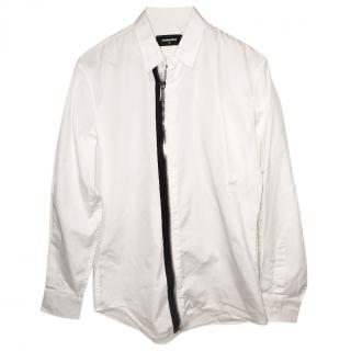 DSquared White Zip Shirt