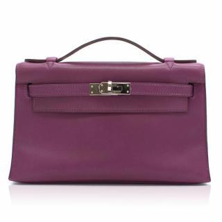 Hermes Kelly Pochette Mini Anemone Bag in Swift Leather