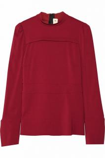 MARNI burgundy red crepe top