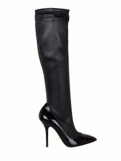 Dolce & Gabbana high heel leather knee boots