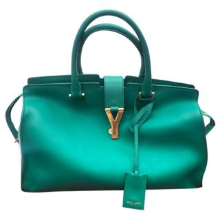 Saint Laurent Green Leather Cabas Chyc