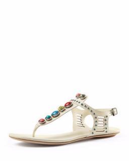 Gucci Lika Embellished Flat Sandals