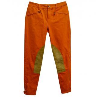 RALPH LAUREN Orange Jodphurs