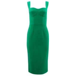 Dolce & Gabbana Green Wool Dress