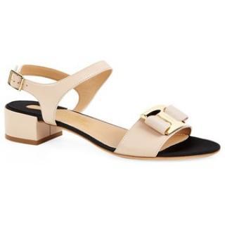 Salvatore Ferragamo Marie Leather Sandals