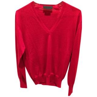 Alexander McQueen V Neck Cashmere Long sleeve sweater