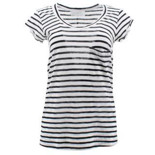 A.L.C. Black & White Stripes Top