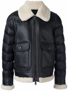 Moncler padded sleeve shearling jacket - Size 2