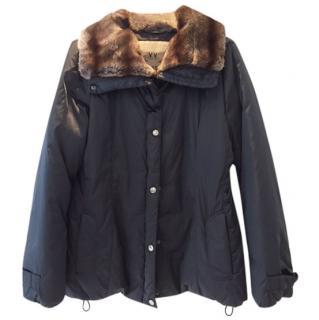Max Mara Weekend Navy Puffer Jacket