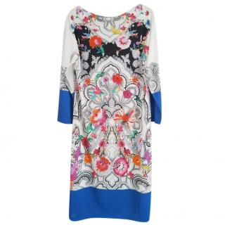 Etro floral print dress with long sleeves
