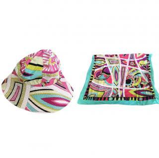 Pucci beach hat and sarong