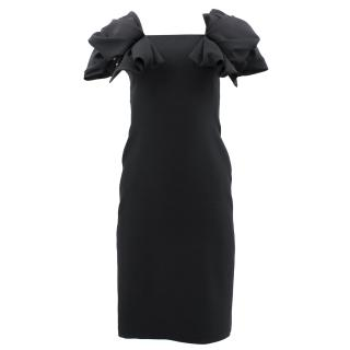 Alexander McQueen Black Ruffle Dress