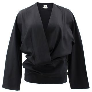 Hermes Black Silk Top