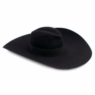 Saint Laurent Black Extra- Wide Brimmed Fedora Hat