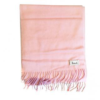 Harrod's cashmere pink fringed scarf
