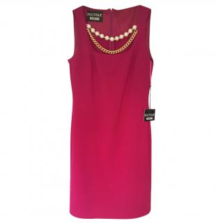 Moschino Boutique Pink Pearl Detail Dress